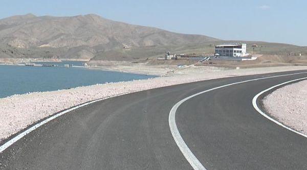 Kayseri'de Yamula Barajı Sahil Yolu Tamamlanıyor
