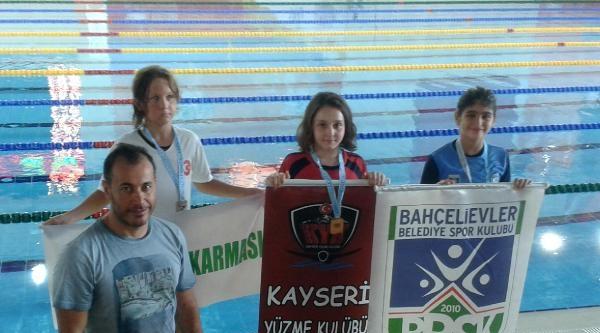 Kayserili Yüzücü, Türkiye Birincisi Oldu