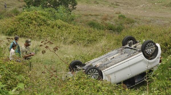 Kaza Yapan Astsubay Ölümden Döndü