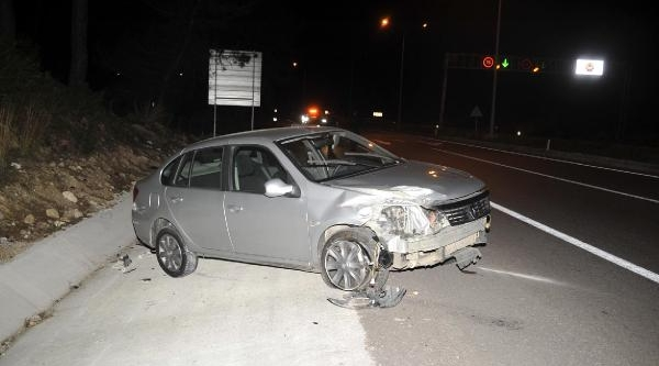 Kazada Polis Memuru Ağir Yaralandi