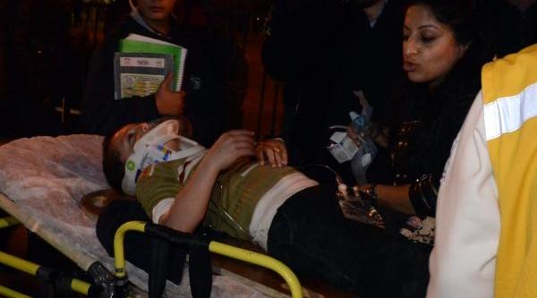 Kazada Yaralanan Çocuğun Yardimina Yoldan Geçen Hemşire Koştu