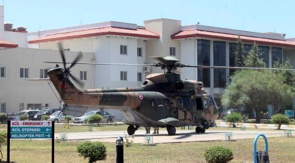 Keçi Otlatırken Kayalıklara Düşen Kadın, Helikopterle Hastaneye Yetiştirildi