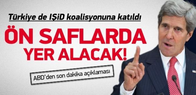 Kerry: Türkiye koalisyona katıldı