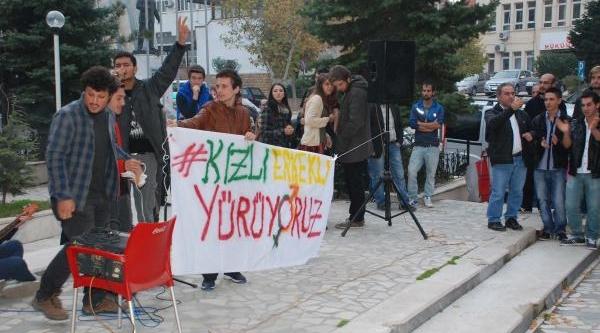 Keşan'da 'kizli Erkekli' Protesto