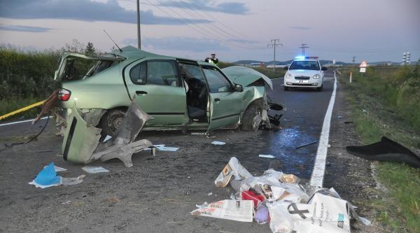 Keşan'da Trafik Kazası: 1 Ölü, 1 Yaralı