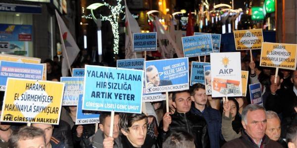 Kesk Giresun'Da 'Yolsuzluk' Eylemi Yapti