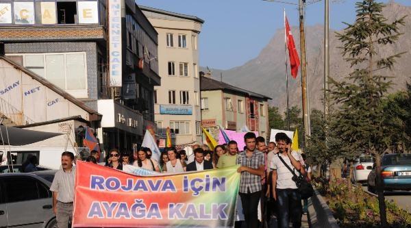 Kesk'li Üyeler Rojava İçin Yürüdü