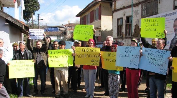 Kestel'de Hes Protestosu Nedeniyle Çed Toplantısı Yapılamadı