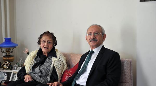 Kılıçdaroğlu, Atatürk'ün Özel Kalemi Ulasan'ın Kızını Ziyaret Etti