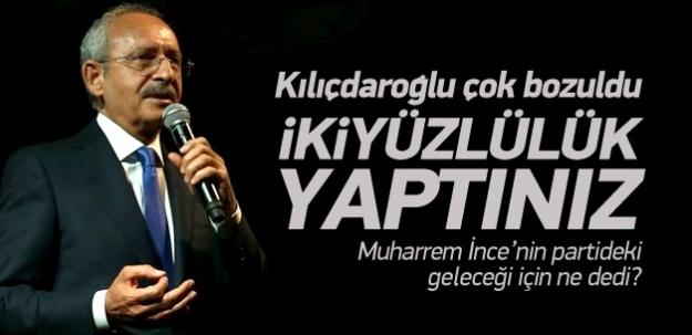 Kılıçdaroğlu çok bozuldu: İki yüzlüsünüz