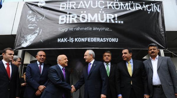 Kılıçdaroğlu, Hak-iş'i Ziyaret Etti