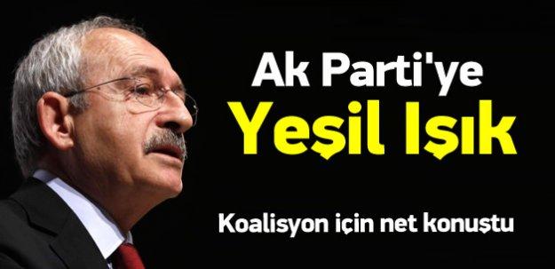 Kılıçdaroğlu'ndan Ak Parti'ye yeşil ışık!
