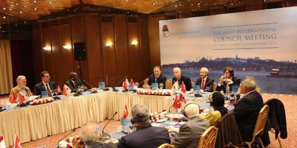 Kiliçdaroğlu, Sosyalist Enternasyonal Konseyi Üyeleriyle Biraraya Geldi