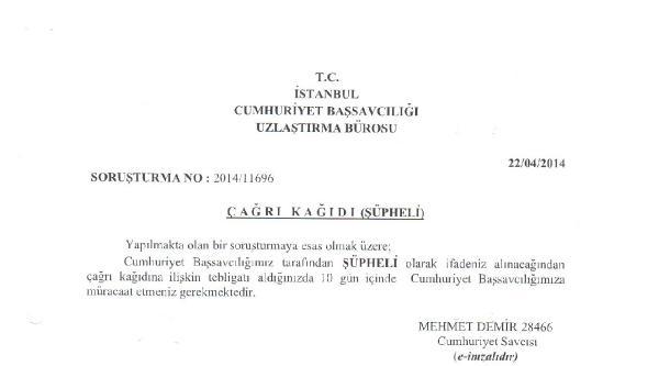 Kılıçdaroğlu 'şüpheli' Sıfatıyla İfadeye Çağrildi, Chp Çağriyi İade Etti