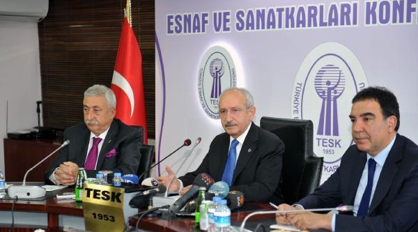Kılıçdaroğlu, Tesk Başkanı Palandöken'le Görüştü