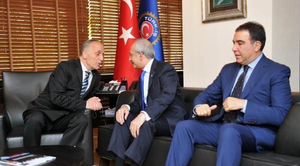 Kılıçdaroğlu, Türk-iş'i Ziyaret Etti (1)