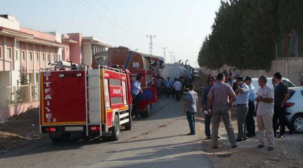 Kilis Devlet Hastanesi'nde Yangın (2)