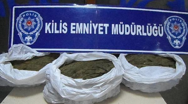 Kilis'te 16 Kilo Esrara 1 Gözaltı