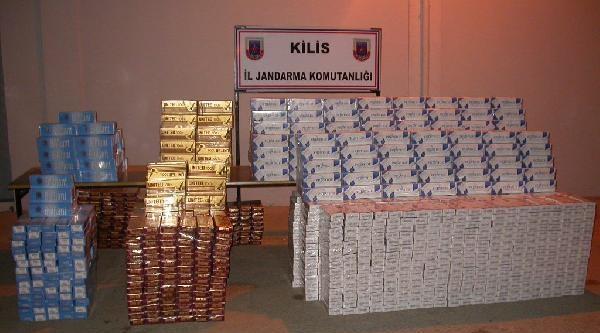 Kilis'te 22 Bin Paket Kaçak Sigara Ele Geçirildi