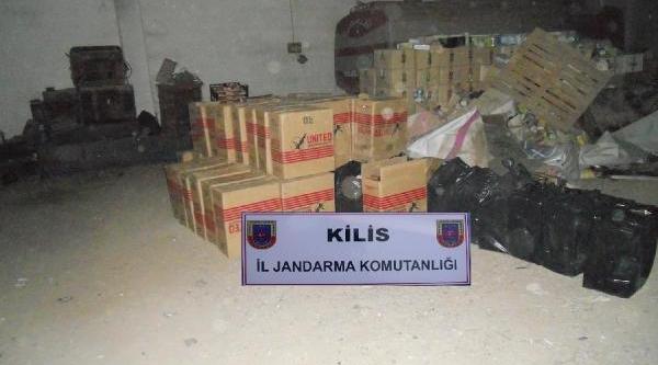 Kilis'te 36 Bin 500 Paket Kaçak Sigara Ele Geçirildi