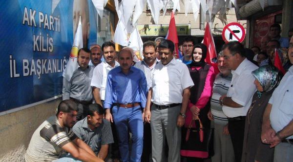 Kilis'te Ak Partililer Kurban Kesti, Erdoğan'a Bağış Yaptı