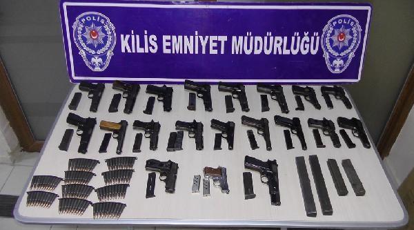 Kilis'te Silah Kaçakçılığı Operasyonu: 5 Gözaltı