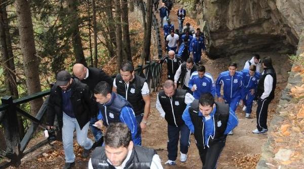 Kirbis Rum Kesimi Futbolculari Sümela Manastiri'Nda