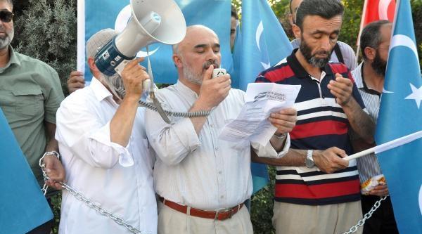 Kırıkkale'de Çin Protestosu