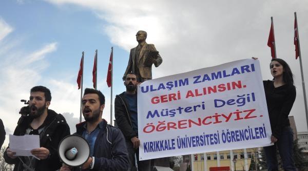 Kırıkkale'de Öğrencilerden Ulaşım Ücreti Protestosu