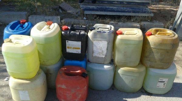 Kırıkkale'de Otomobil Bagajında Kaçak Akaryakıt