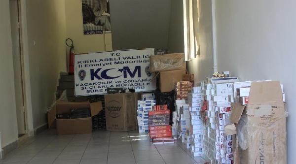 Kırklareli'nde 9980 Paket Kaçak Sigara Ele Geçirildi