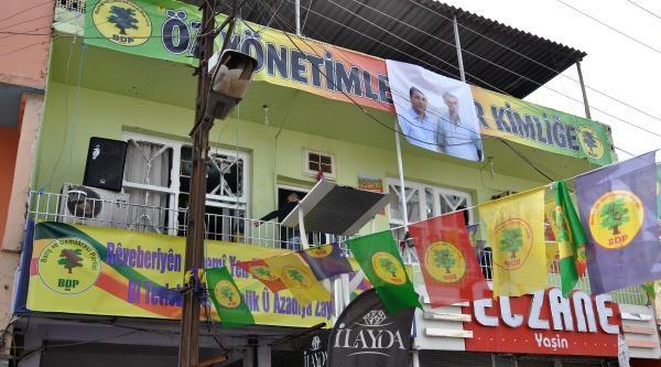 Kızıltepe'de Bdp Seçim Bürosuna Ses Bombası-  Fotoğraflar