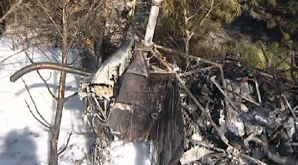 Kktc'de  Helikopter Düştü; Fransiz Pilot Yarali