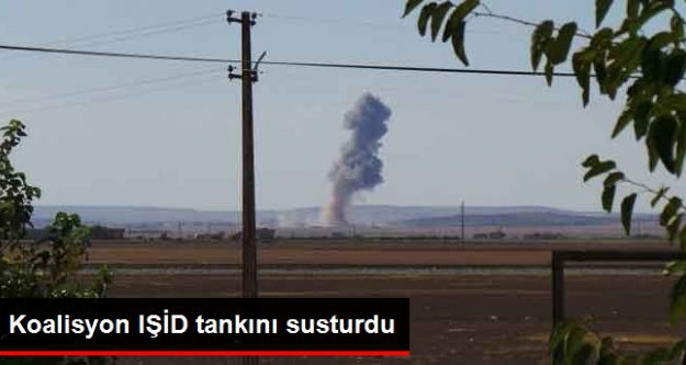 Koalisyon IŞİD tankını susturdu