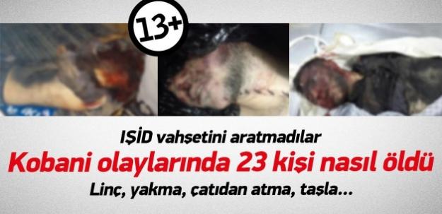 Kobani olayları sırasında 23 kişi nasıl öldü