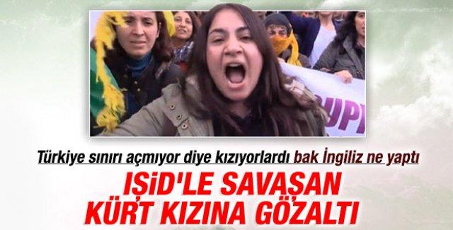Kobani'de IŞİD'le savaşan Kürt kıza Londra'da gözaltı