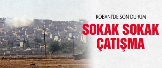 Kobani'de son durum sokak çatışmaları başladı