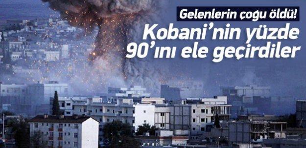 Kobaninin yüzde 90ını ele geçirdiler