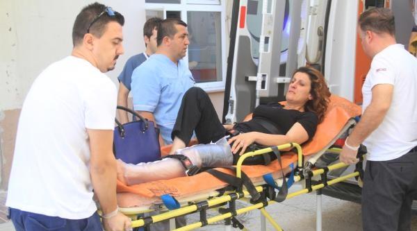 Koca Dayağından Bacağı Kırıldı