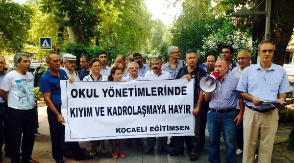 Kocaeli Eğitim-sen Siyasal Kadrolaşmayı Protesto Etti