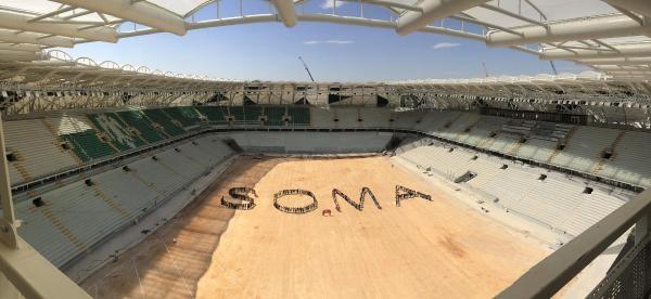 Konya Stadı'nda 450 İşçiden Soma'ya Destek