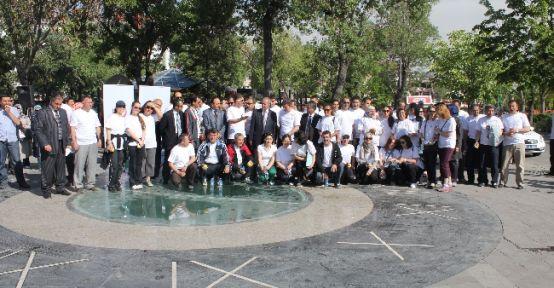 """Konya'da """"dünya Sağlık İçin Hareket Et Günü"""" Yürüyüşü"""