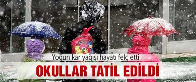 Konya'da okullara kar tatili!