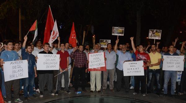 Konya'da Saadet Partililer'den İsrail Protestosu