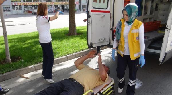Konya'da Zincirleme Trafik Kazası: 1 Yaralı