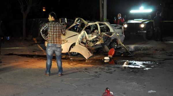 Korucu Otomobilinde El Bombası Patladı: 1 Ölü, 1 Ağır Yaralı  (fotograflar)