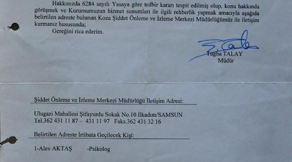 Koruma Mektubu, Damla Öldürüldükten Sonra Gönderildi
