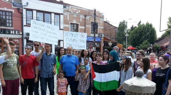 Kosova'da İsrail Protesto Edildi