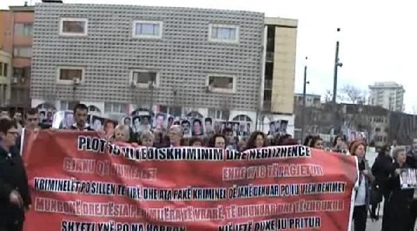 Kosovalı Kadınlar 'kayıplar'ını Andı