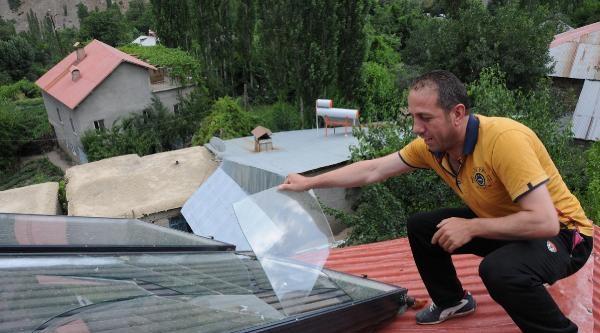 Köye Kurulan Güneş Enerjisi Sistemi 1 Hafta Çalişti